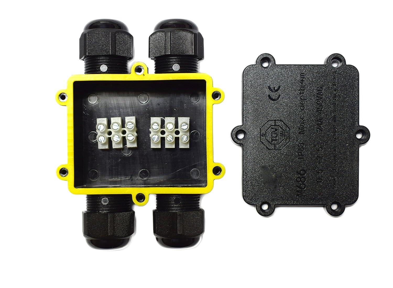 14/mm Sucre auxiliaire/® 24/A 450/V 4/Way H Forme IP68/connecteur de fil de c/âble /électrique /étanche Bo/îte de jonction Royaume-Uni 4