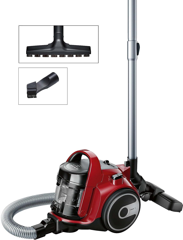 Acquisto Bosch BGC05AAA2 Aspirapolvere a Carrello Senza Sacco, 700 W, 1.5 Litri, 78 Decibel, Rosso e Nero Prezzo offerta