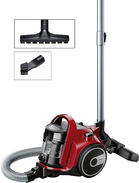 Bosch BGC05AAA2 GS05 Cleannn Aspirador sin Bolsa, Diseño Ultra-Compacto, Filtro Hepa H12 Lavable, Cepillo Especial Suelos Delicados, 700 W, 1.5 ...