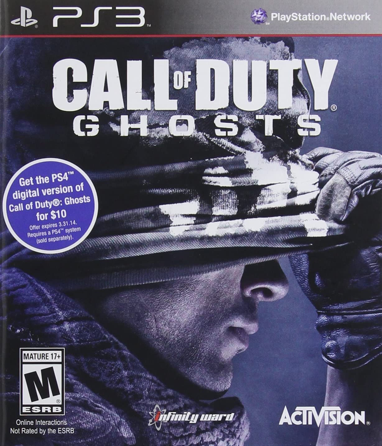 Amazon com: Call of Duty: Ghosts - PlayStation 3: Activision