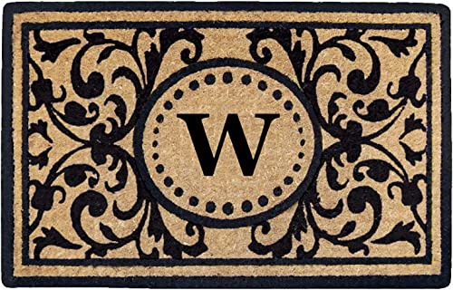 Heavy Duty 18 x 30 Coco Mat Heritage, Monogrammed W