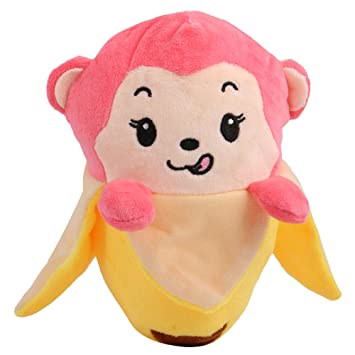 Chocozone Birthday Gift for Boys & Girls - Pink Monkey in Banana Soft Toy