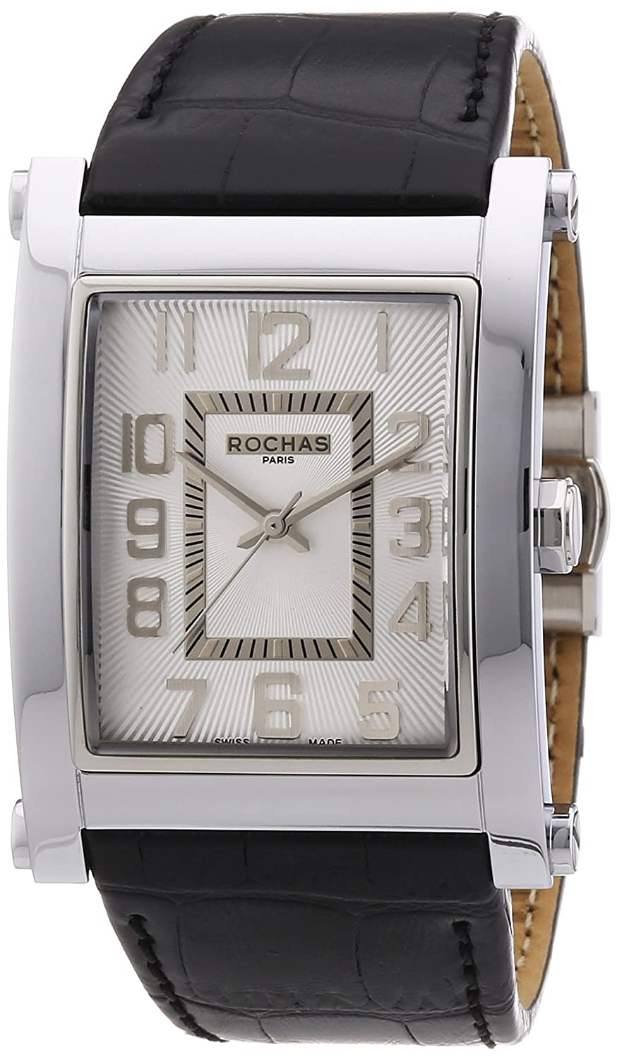 Rochas Herren-Armbanduhr XL Rochas De Luxe Men`s Collection 2012 Analog Quarz Leder RH9410