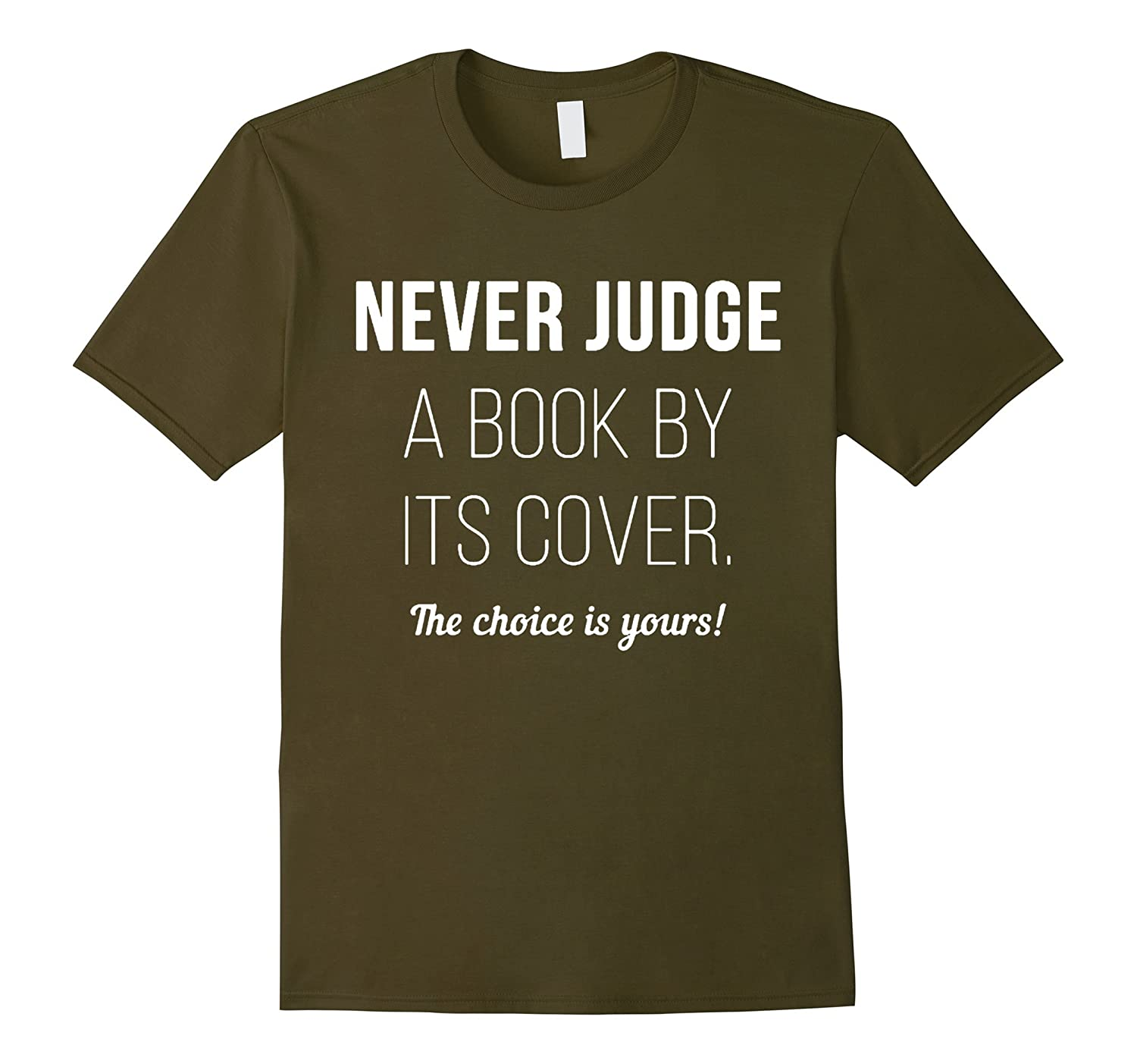 Never Judge a Book by its Cover T-Shirt-CL