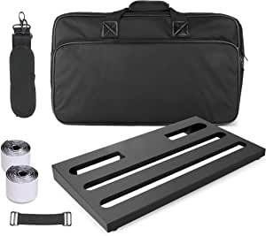 """GOKKO AUDIO GKB-52 Guitar Effects Pedal Board case 22"""" x 12.6"""" Pedalboard With Carrying Bag (Large)"""