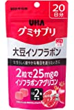 UHAグミサプリ 大豆イソフラボン ザクロ味 スタンドパウチ 40粒 20日分
