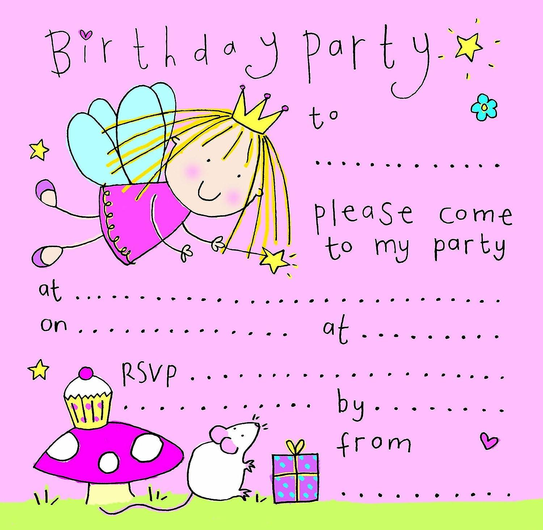 Twizler - Invitación para fiesta de cumpleaños de niña ...
