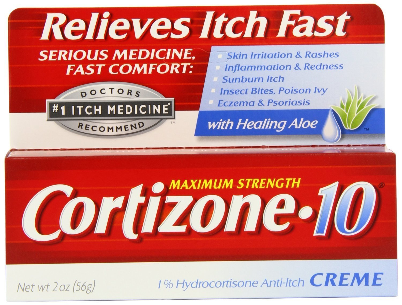 Cortizone-10 Max Strength Cortizone-10 Creme, 2 Ounce Box (Pack of 4)