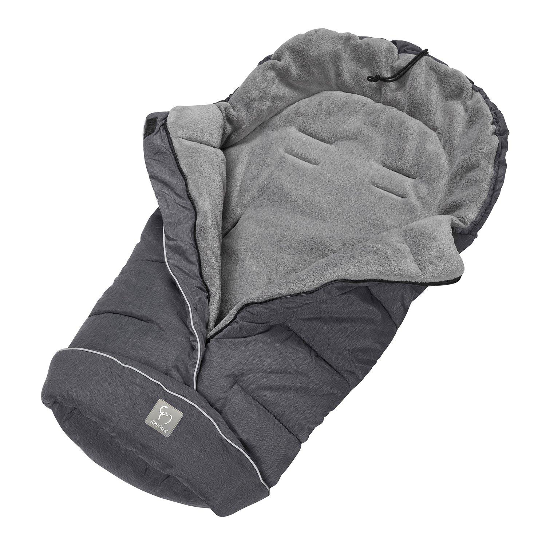 Clevamama Universaler Baby Fußsack - Schlafsack für Kinderwagen und Buggy - Grau 7549