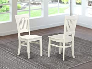East West Furniture Vancouver Dining Wood Chair, Standard Height, VAC-LWH-W