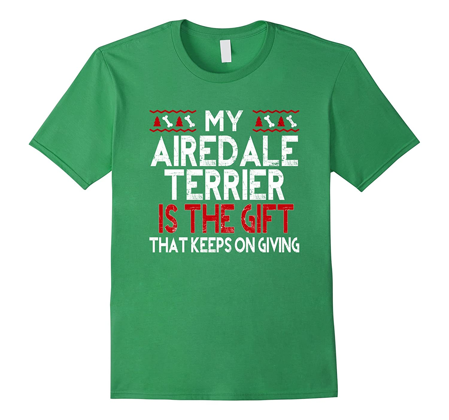 Cute Airedale Terrier Dog Christmas Gift Shirts for Women-FL