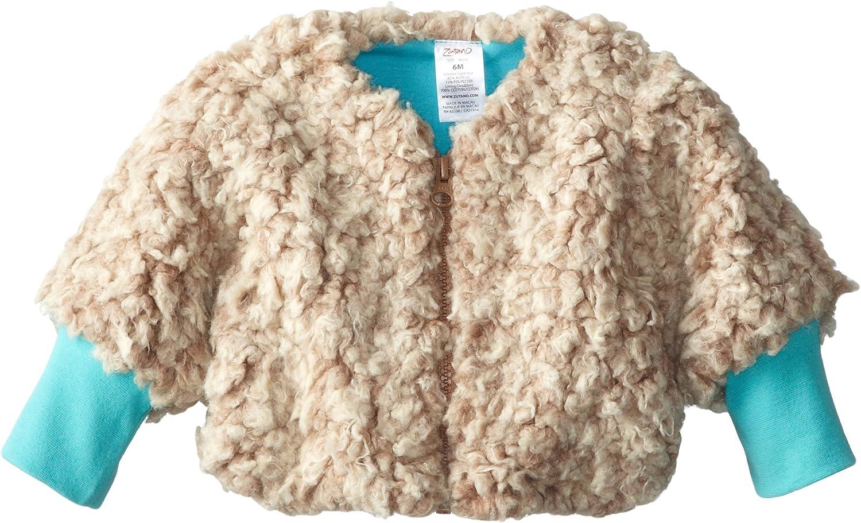 Zutano Baby Girls Furry Zipper Jacket