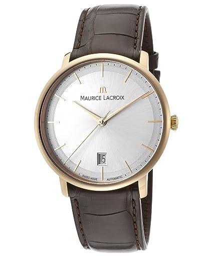Maurice Lacroix Les Classiques lc6007-pg101 - 130 - 37 mm automático funda de piel color marrón en oro 18 K cristal de zafiro reloj para hombre: Amazon.es: ...