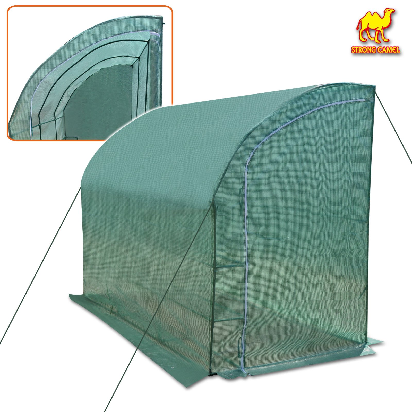 Strong Camel New Large Walk-in Wall Greenhouse 10x5x7'H w 3 Tiers/6 Shelves Gardening (Green) by Strong Camel (Image #1)