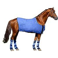HyperKewl Evaporative Cooling Horse Blanket, Medium, Blue