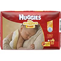 Huggies Premmie Nappies, Unisex, (up to 3kg), 30 Nappies
