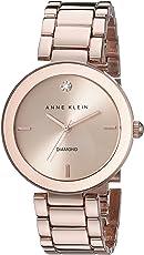 Anne Klein AK/1362RGRG Reloj para Mujer, Redondo, Análogo, color Oro