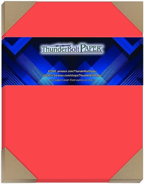 25 color rojo sandía color cartulina 65 # Cover – Papel, 8.5