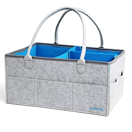 LEADSTAR Cajas de Pañales, Cesta de Almacenamiento Almacenaje Regalo Bolsa Organizador de Coche Toallitas para Bebé con Compartimentos Ajustables y ...