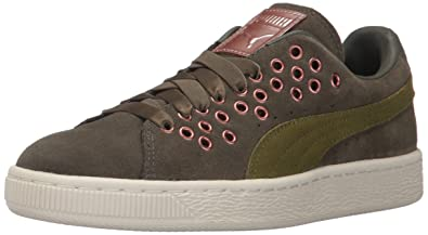 PUMA Womens Suede XL Lace vr Wn Olive Night-Avocado 105 M US