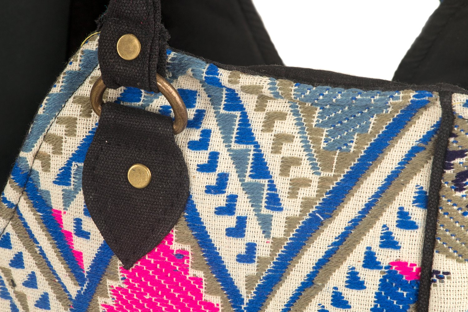 Woven-Women-Tote-Blue-Large-Shoulder-Bag-Beach-Summer-Fashion-Spring-School-Every-day-Floral-Geometric