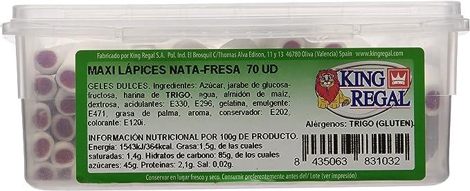 King Regal Maxi Lápices Nata Fresa - estuche 70 unidades: Amazon.es: Alimentación y bebidas