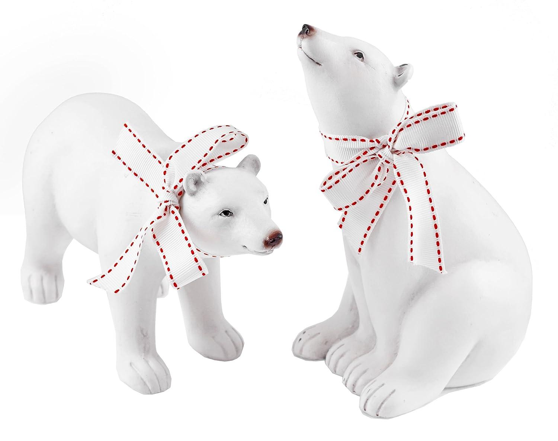 Oso Polar en el Polo Norte Navidad figuras - Set de 2: Amazon.es: Hogar