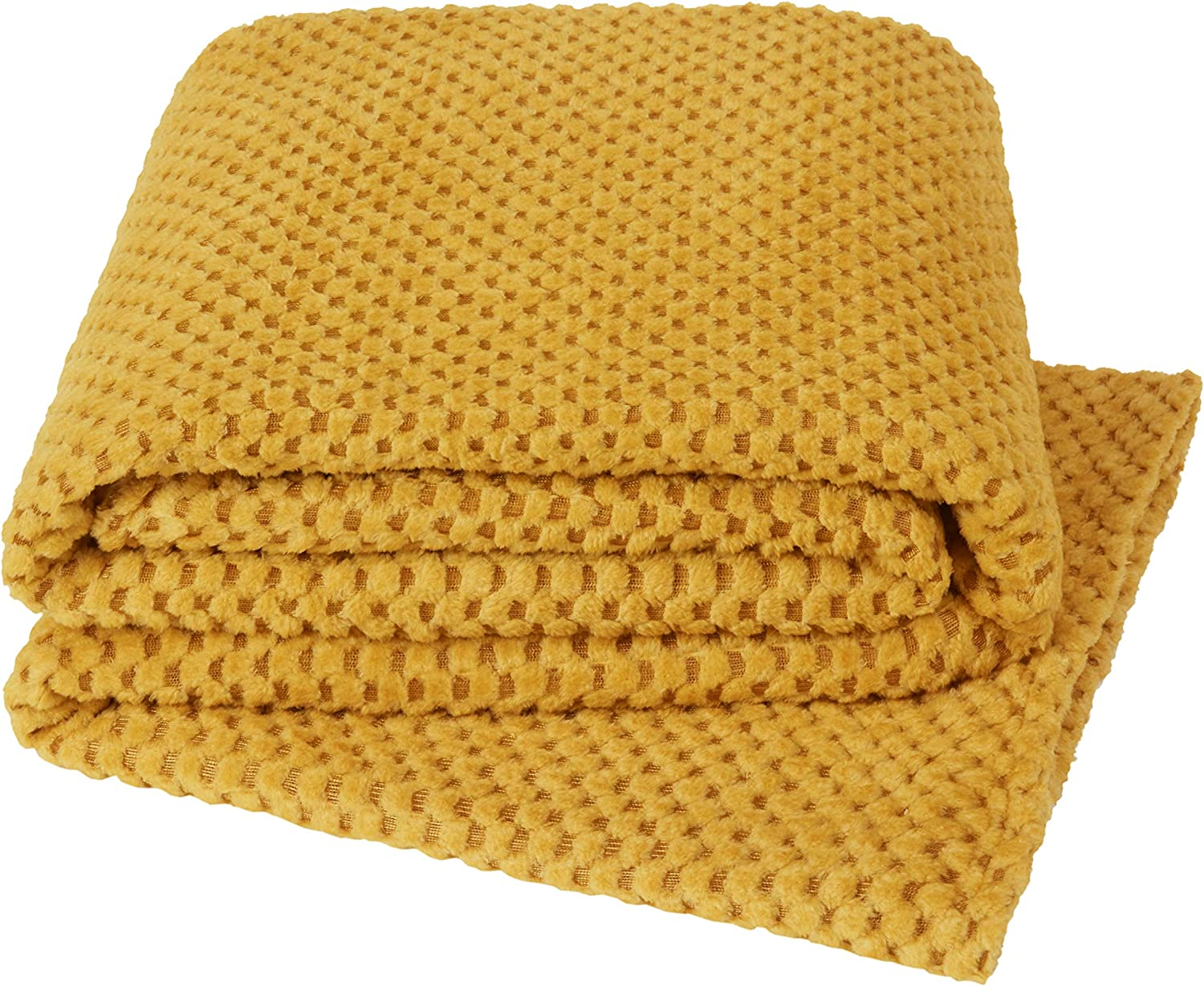 Yourhome Throw Soft Cosy Teddy Popcorn Suitable For Bed Chair Or Sofa 130x180 Ochre Amazon Co Uk Kitchen Home