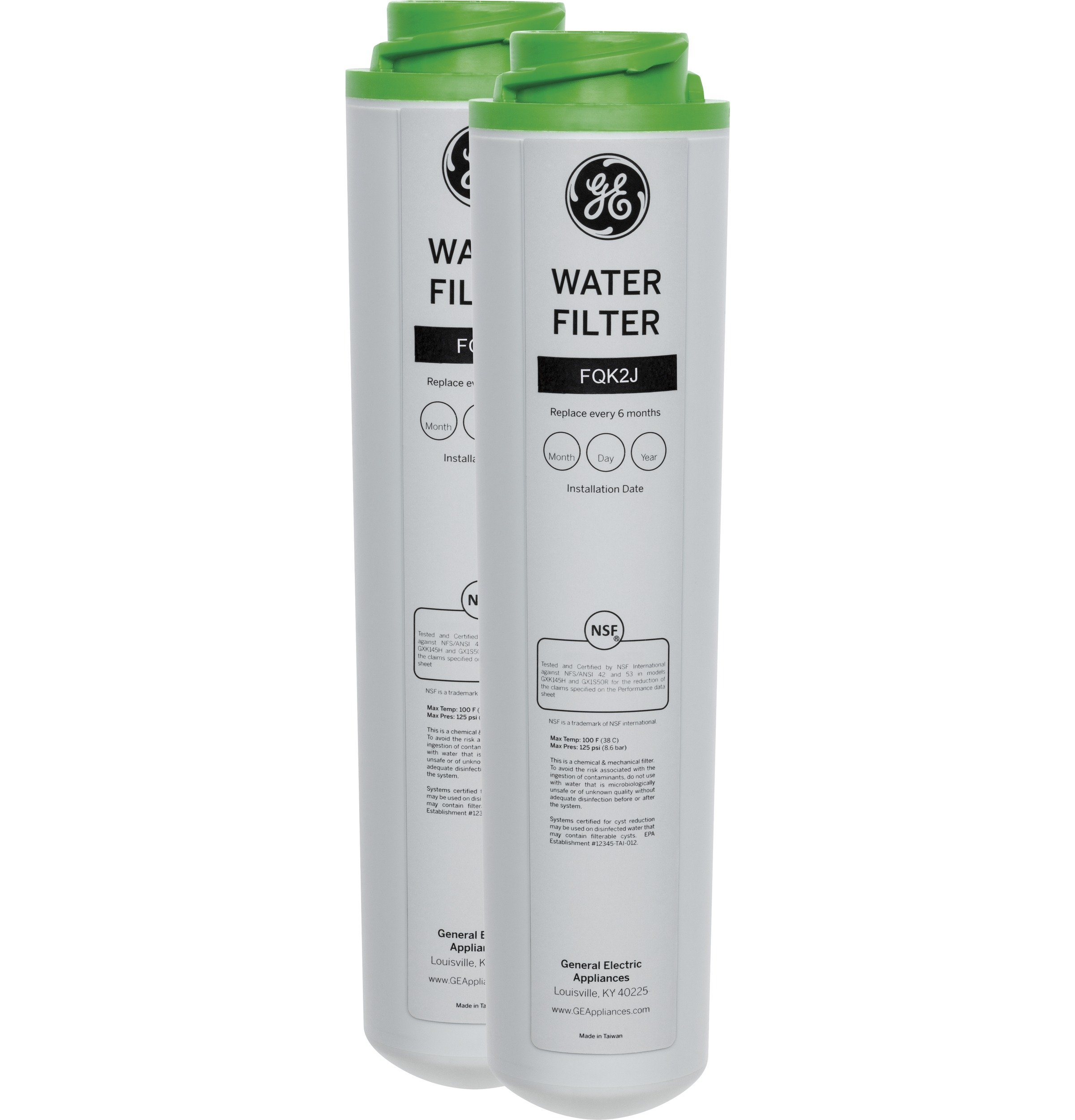 GE FQK2J Dual Flow Drinking Water Replacement Filters by GE
