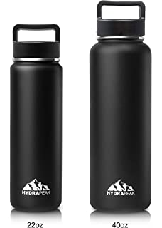 21a94b8dc2 Hydrapeak Stainless Insulated Water Bottle- 22oz, 40oz, BPA Free Wide  Mouth, Double