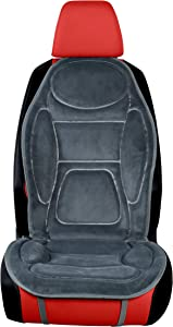 iHealthComfort 12V Car Heated Seat Cushion Cover Pad High/Low Switch Warmer (Gray)