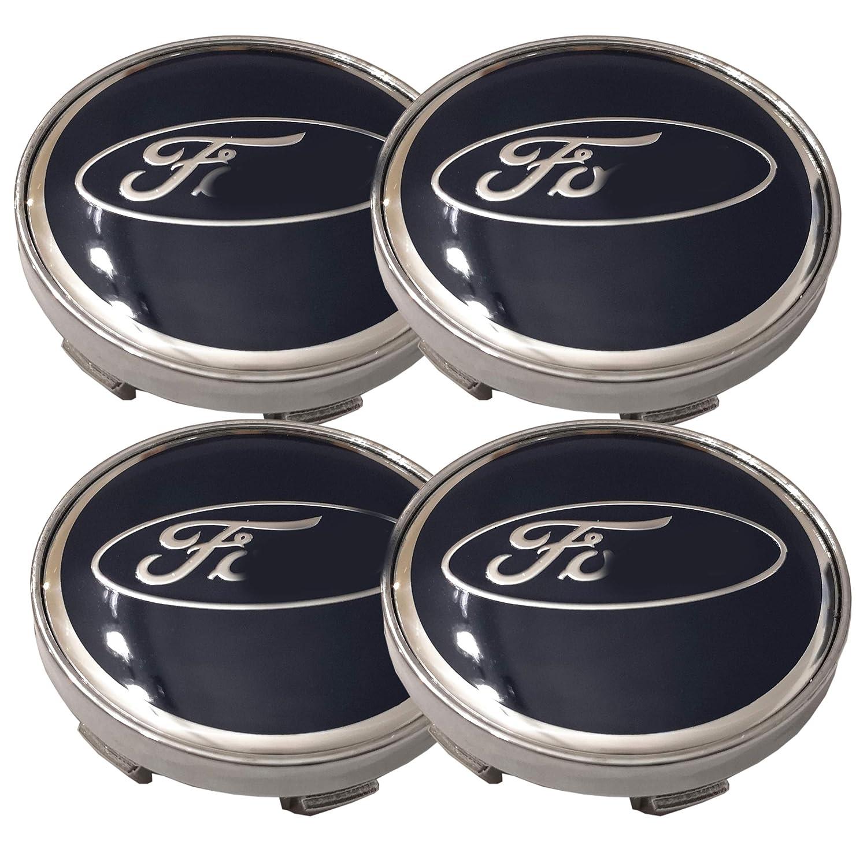 60 mm Aftermarket Aufkleber f/ür Alufelgen passend f/ür Ford 4 St/ück Blau