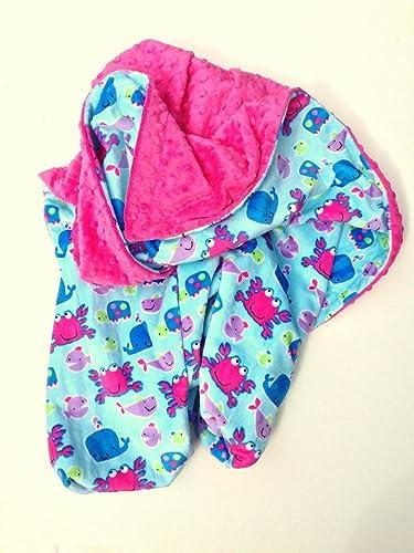Baby Boy Blanket Handmade Baby Minky Blanket Crib Blanket Baby Blanket