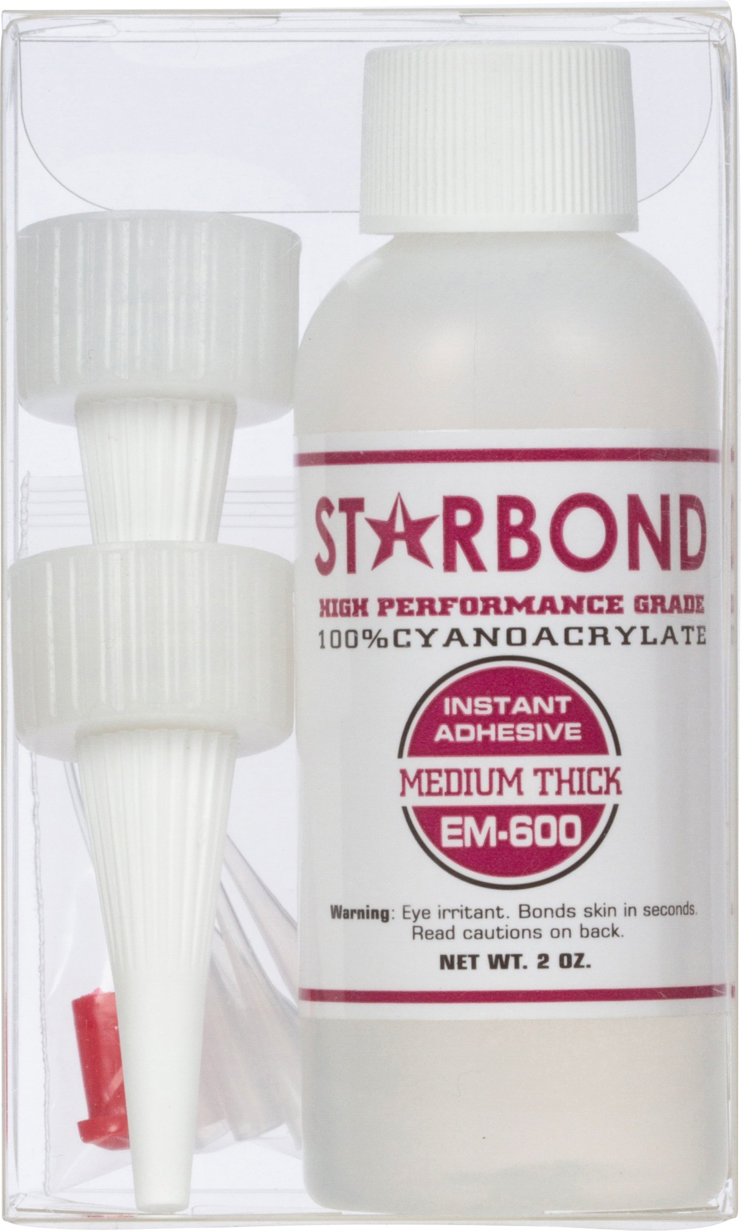 Starbond EM-600 Medium Thick, PREMIUM CA - Cyanoacrylate Adhesive Super Glue (For Woodturning, Hobby, Screen Printing, Lapidary) (2 ounce) by Starbond (Image #2)