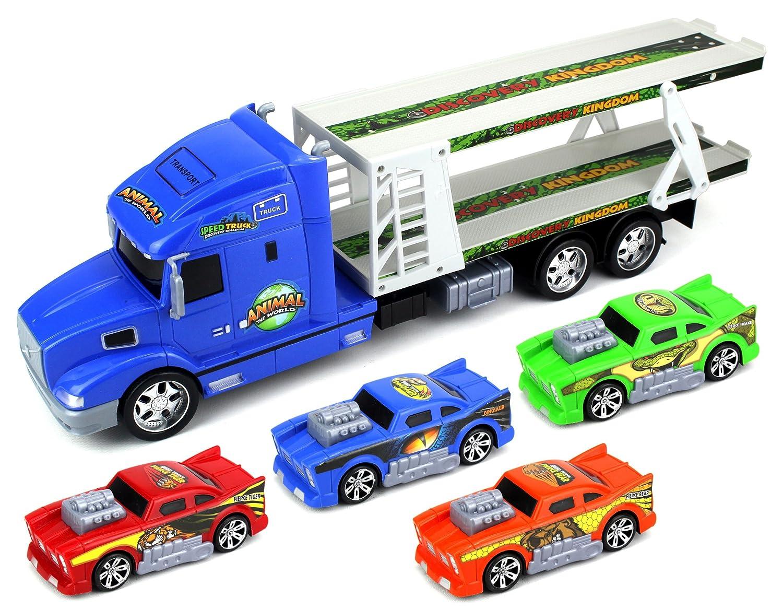 Amazon Com Animal World Car Trailer Children S Friction Toy