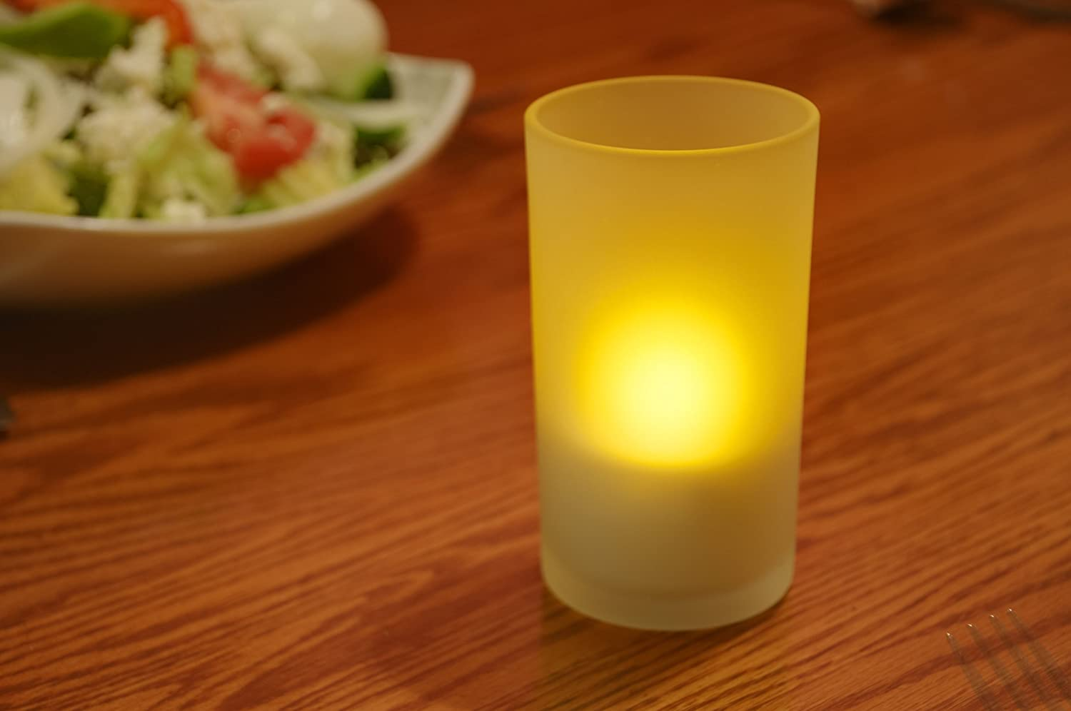 Mr Light Set Of 12 Restaurant Quality Rechargeable Led Candle With Realistic Flicker And Circuit Board Style Tealights Flickering Amber Leds Glass Holders Home Kitchen