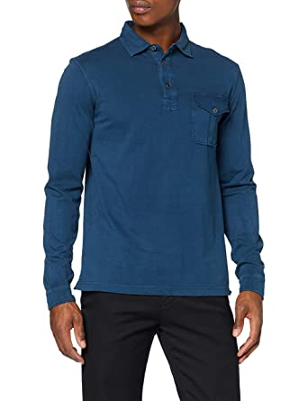 HKT by Hackett Hkt Sueded LS Polo para Hombre: Amazon.es: Ropa y ...