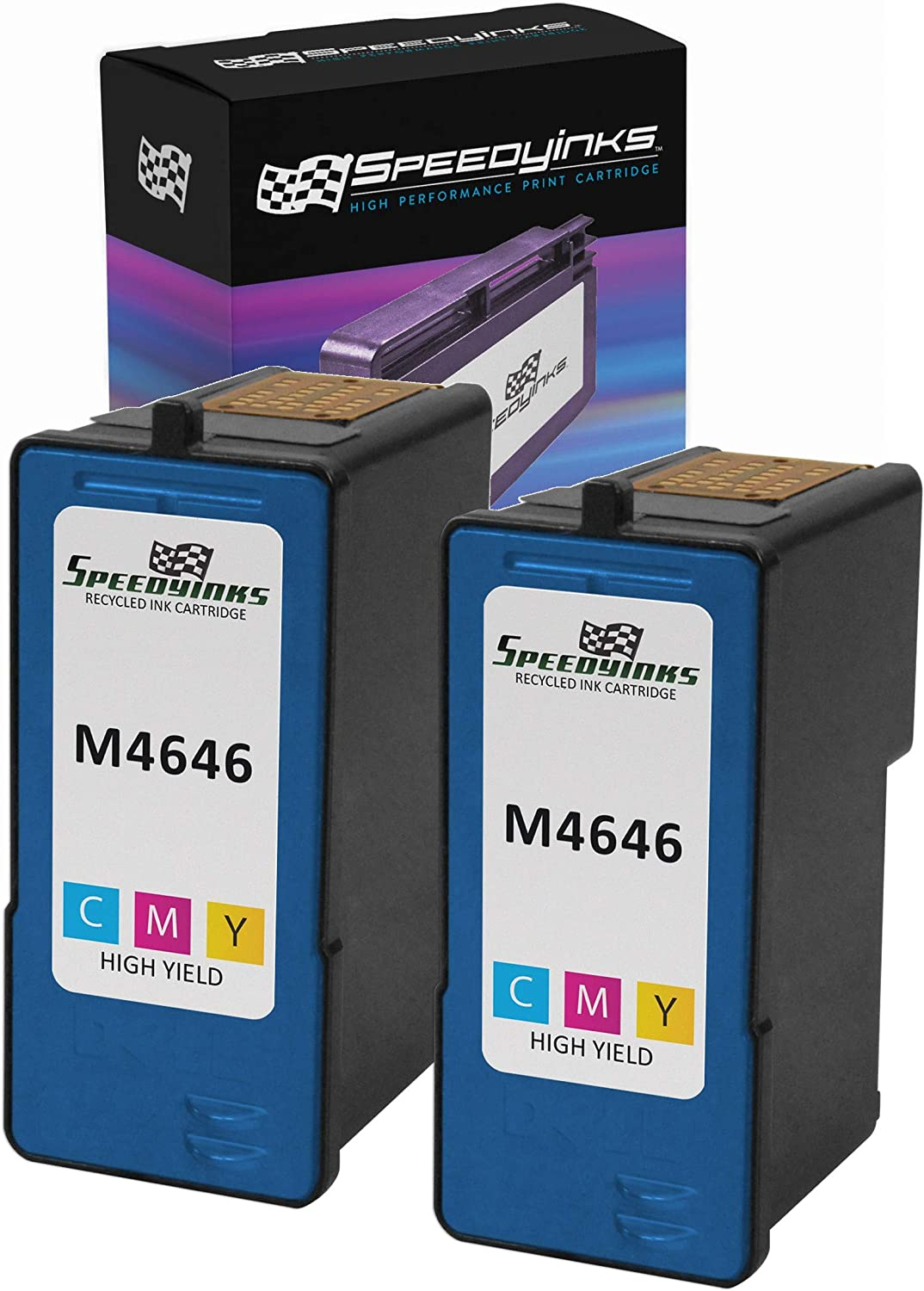 MS Imaging Supply Remanufactured Inkjet Cartridge Replacement for Dell M4646 Multi-Multi-Color, 3 Pack Series 5