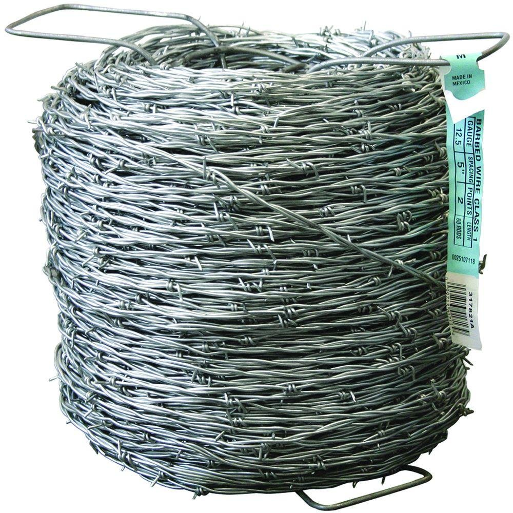 FARMGARD 1,320 ft. 12-1/2 Gauge 2-Point Class I Galvanized Barbed Wire Fencing