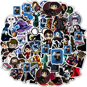 AMITD 50PCS (Magic Academy) Graffiti Stickers Magic Wand Waterproof Cartoon Magical Stickers Vinyl Stickers Funny Stickers and Decals for Laptop, Car, Luggage, Skateboard, Motorcycle, Guitar