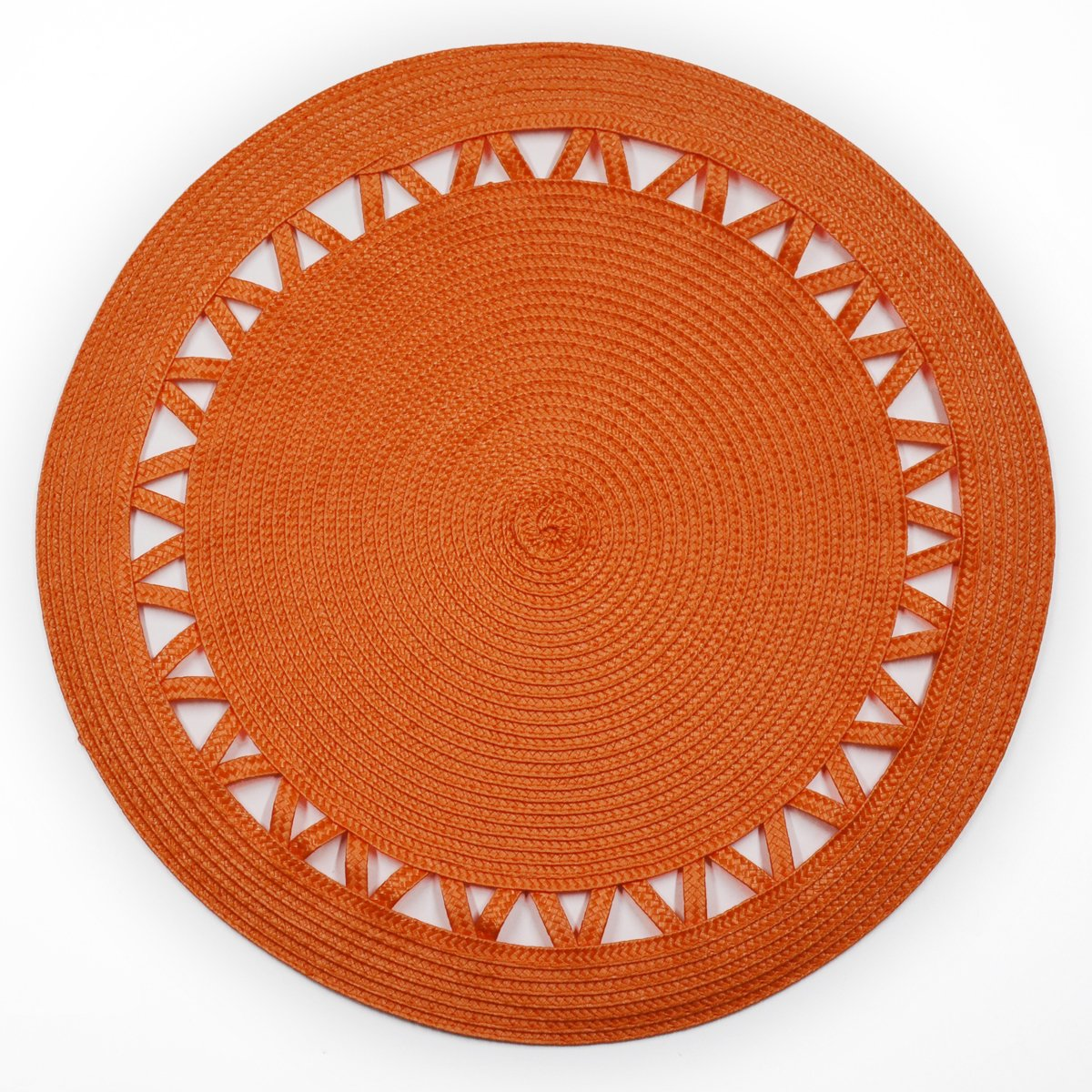 Shamake Round Braided Bamboo Style Woven Placemats Set of 6 14-inch Kitchen Table Decorative Easy to clean