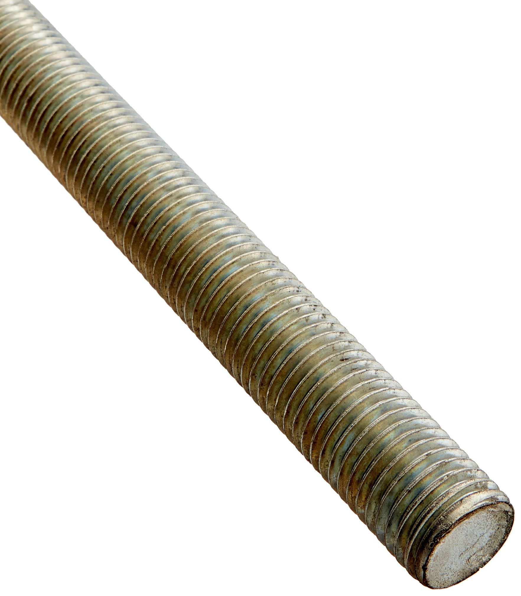 Steel Fully Threaded Rod, Zinc Plated, 7/8''-9 Thread Size, 36'' Length, Right Hand Threads, Made in US