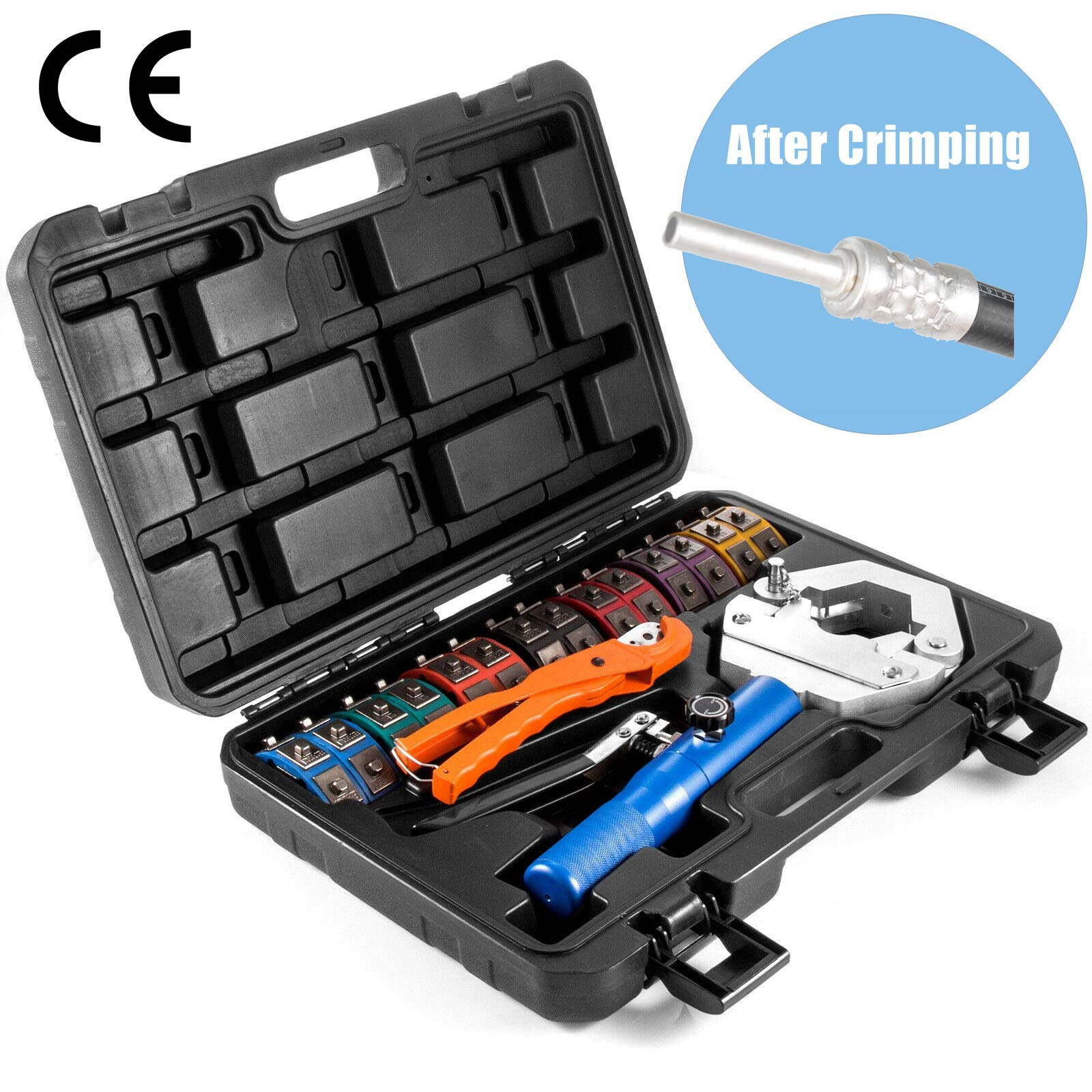 iGeelee Hydraulic Automotive A/C Hose Hydra-krimp Crimper Crimping Tools for BH Air Conditioning Hose & Beadlock A/C Fittings