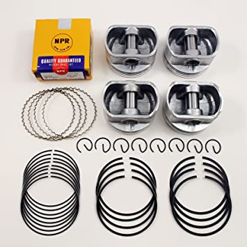 Amazon.com: Pistons w NPR (Japan) Nippon Piston Rings Kit 1998-2008 1.8L Toyota Chevrolet Pontiac 1ZZFE Size 0.020