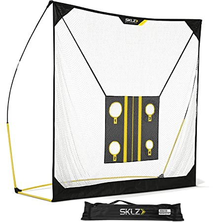 SKLZ Quickster Golf Net 8x8ft, 6x6ft with Chipping Target and Carry Bag, Ultra Portable Driving Range with Quick Assembly, Perfect Your Swing, Improve Your Aim, Develop Your Hand-Eye Coordination