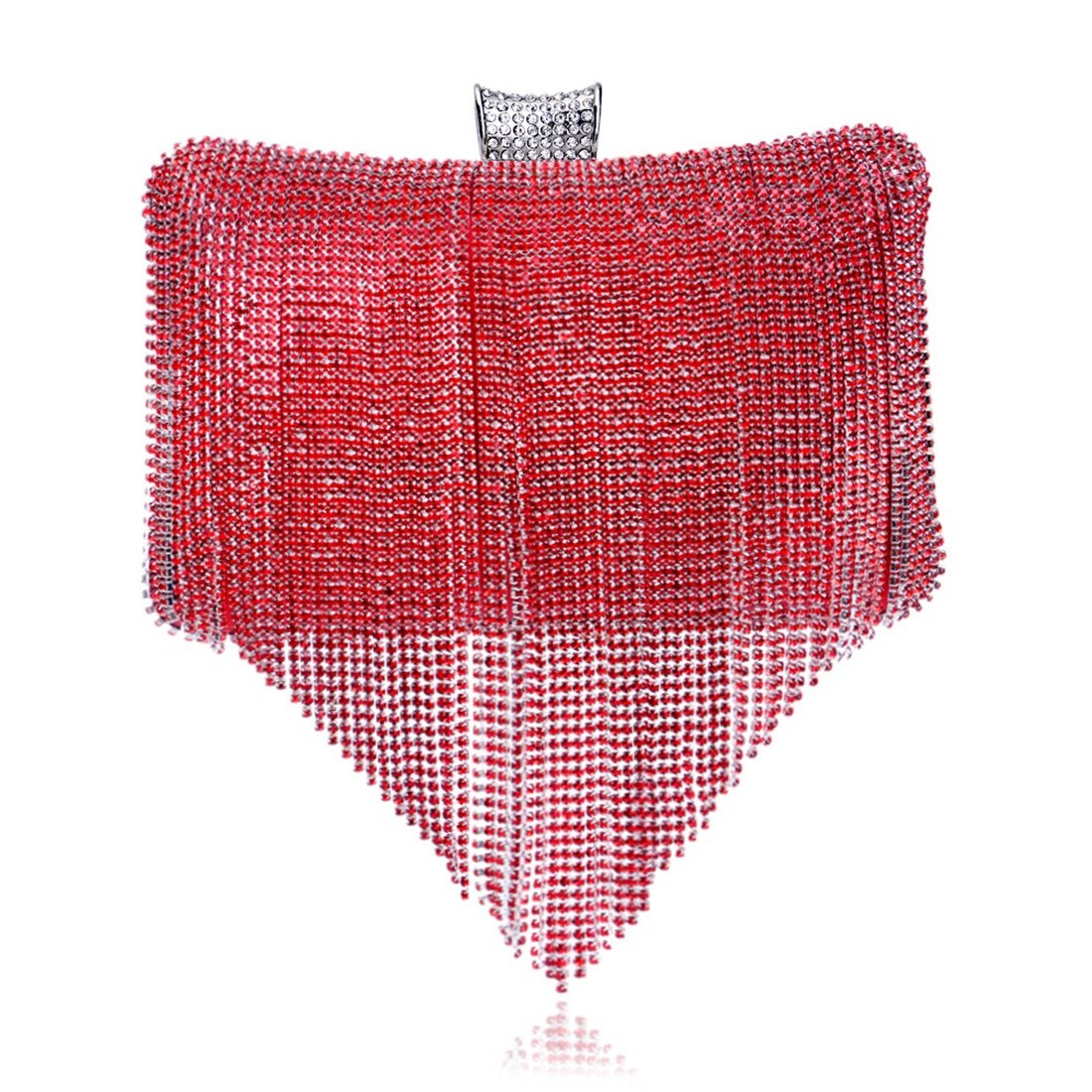 Yajiemei Frauen Frauen Frauen wunderschöne Nachtclub Dame Tasche Diamant Abend Clutch Braut Handtasche Tasche (Farbe   rot) B07MR86HRL Clutches eine große Vielfalt von Waren d92947