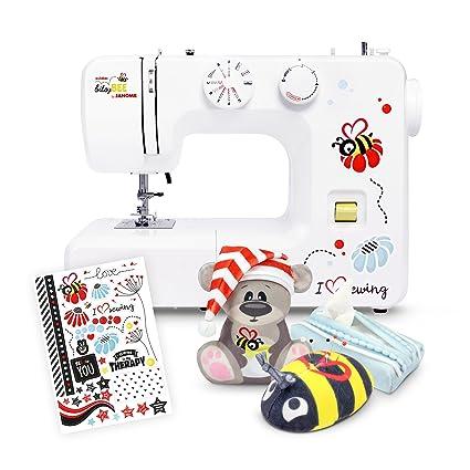 Máquina de coser Kullaloo bitsyBEE de Janome, incluye 3 accesorios de costura y pegatinas