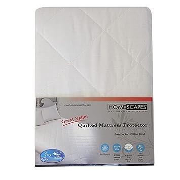 Homescapes Protector de colchón acolchado de Lujo de 120 x 190 antiacaros y Hipoalergénico: Amazon.es: Hogar