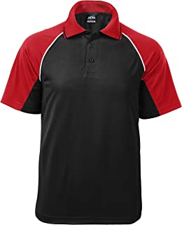 product image for Akwa Men's Moisture Wicking Raglan Bodymapping Performance Golf Polo Ventilation Zone