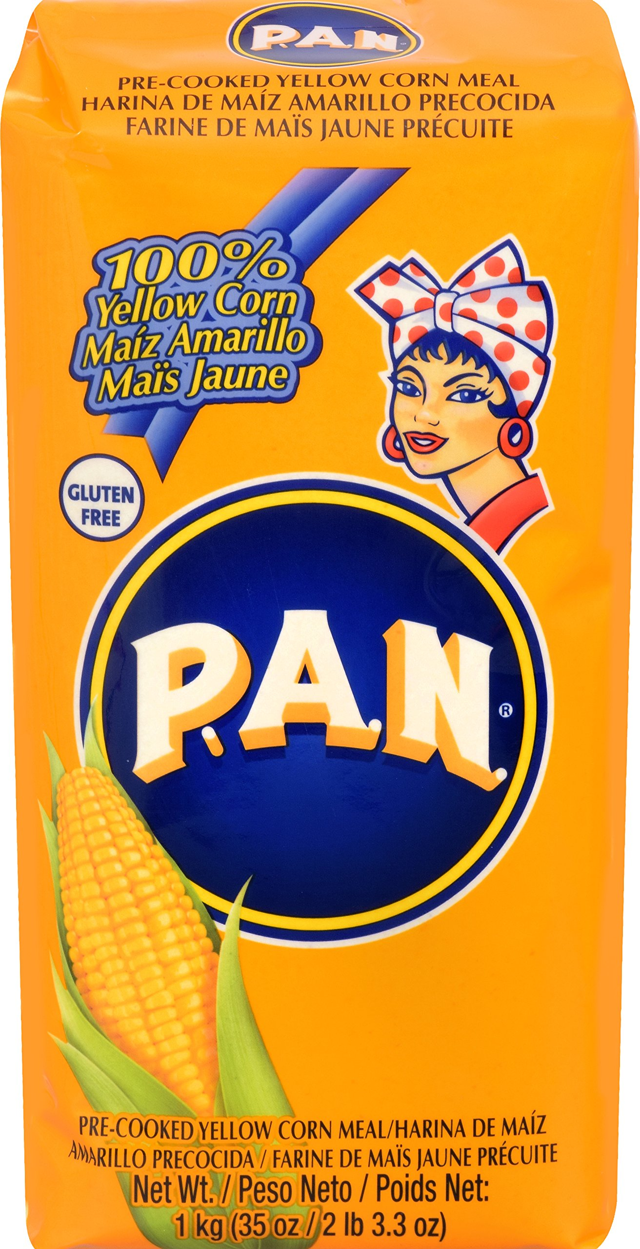 Pan Precooked Yellow Corn Flour 1 kg